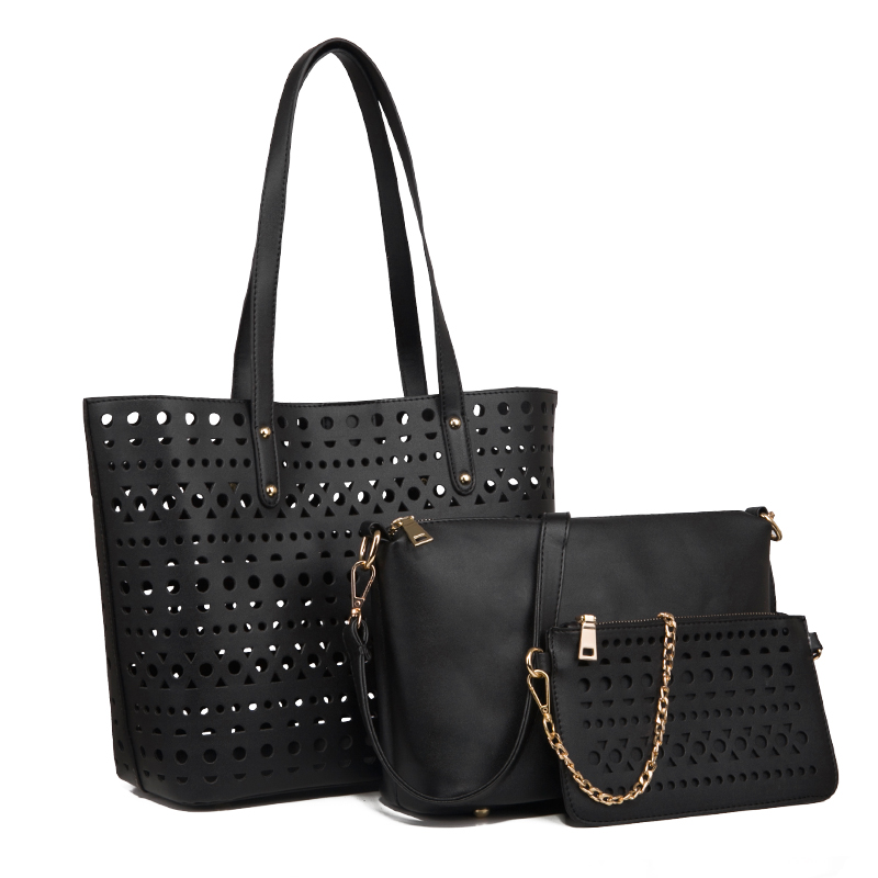 Ceossman 3PCS Women's Bag Set Fashion PU Leather Ladies Handbag Solid Color Messenger Bag Shoulder Bag Wallet Bag For Women 2020
