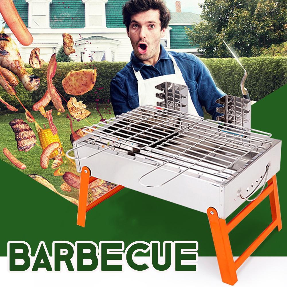 Cadre de Barbecue en plein air Portable réglable four à Barbecue Camping cuisine en plein air fournitures de Barbecue cuisinière en plein air