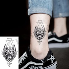 Geometry cool Temporary Tattoo Sticker Women Minimalist lines pattern Body Art New Design Fake Men Tattoos(China)