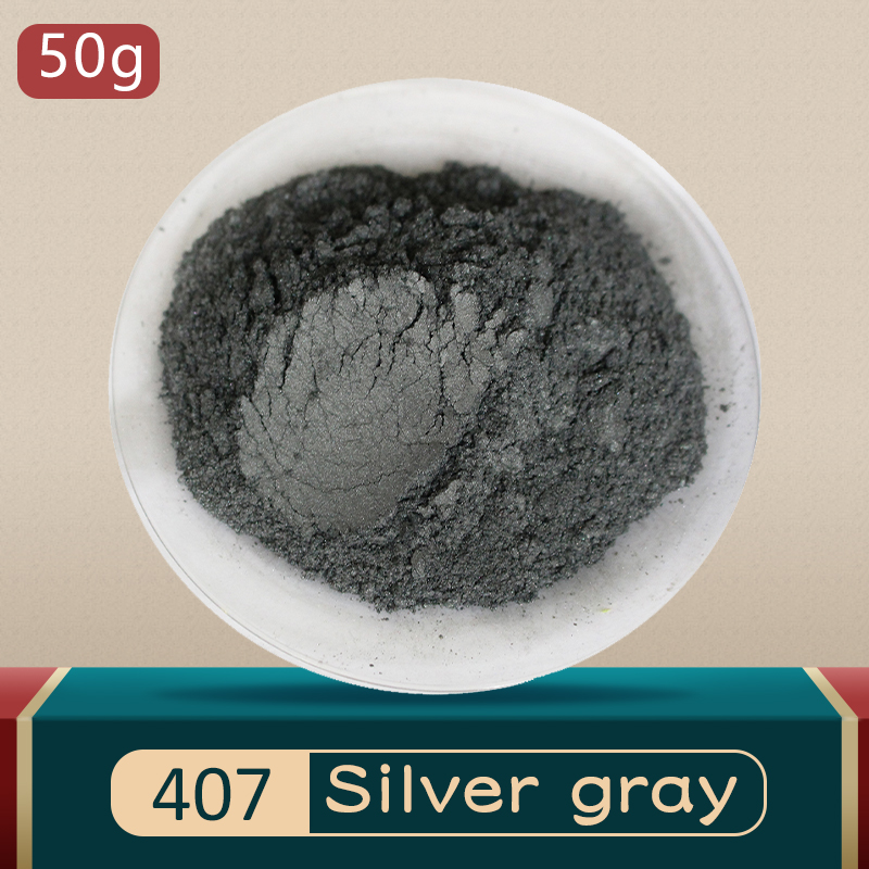 Mica Pigment Pearl Powder DIY Mineral Dye Colorant Dust 10g 50g Type 407 for Soap Eye Shadow Cars Ar