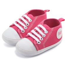 Buciki dziecięce dziewczęce buty chłopięce buciki noworodki płócienne trampki szopka buty maluch miękka podeszwa antypoślizgowe buty dziecięce 0-1Y tanie tanio Płótno Płytkie COTTON Wszystkie pory roku Slip-on Stałe Unisex Pasuje prawda na wymiar weź swój normalny rozmiar