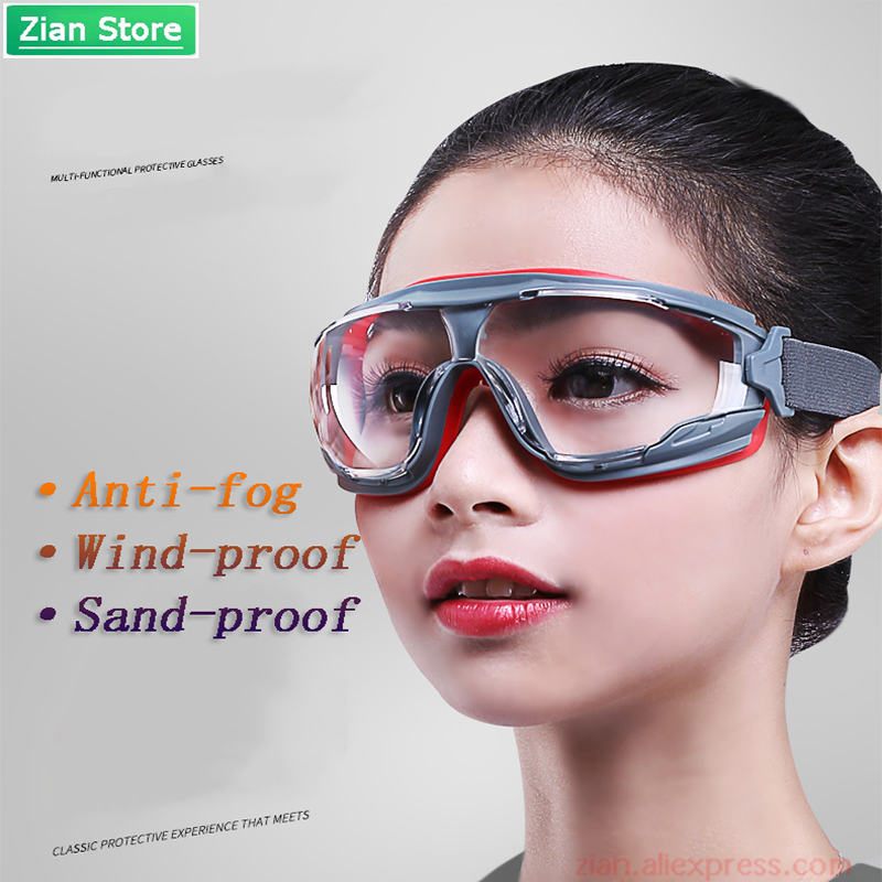 GA501 Anti-fog Safety Goggles Dust-proof And Wind-proof Sand-proof Liquid Splash Goggles Anti-impact Labor Protective Glasses