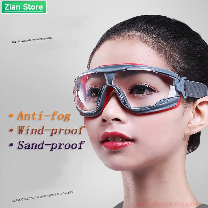 Ga501 anti-nevoeiro óculos de segurança à prova de poeira e à prova de vento à prova de areia líquido respingo óculos anti-impacto óculos de proteção de trabalho