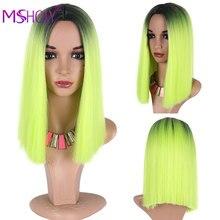 Прямые синтетические Короткие парики боб Омбре двухцветные Зеленые Косплей парики для белых черных женщин девушек милые парики Лолиты Msholy