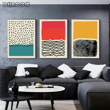 Moderne Veelkleurige Abstracte Geometrische Muur Canvas Schilderij Foto Posters En Prints Gallery Kids Keuken Home Decor(China)