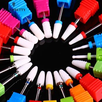 1 Pc elektryczne ceramiczne frezy do paznokci z końcówką do szlifowania kolorowe mieszane rozmiar ceramiczne elektryczne frezy do paznokci frez do maszyn tanie i dobre opinie As the pictures show AXP47104