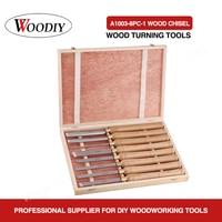 WOODIY 8PC Wood Turnning Tools High Speed Steel Lathe Cutter Tools Lathe Chisel wood turning chisel set