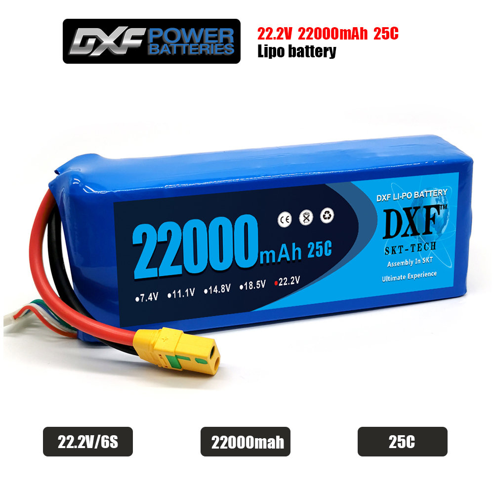 RC <font><b>LiPo</b></font> Battery <font><b>6S</b></font> 22.2V <font><b>22000mAh</b></font> 25C For RC Car Airplane Tank Drone Toy Models <font><b>6s</b></font> RC Batteries Agricultural Aircraft <font><b>LiPo</b></font> image