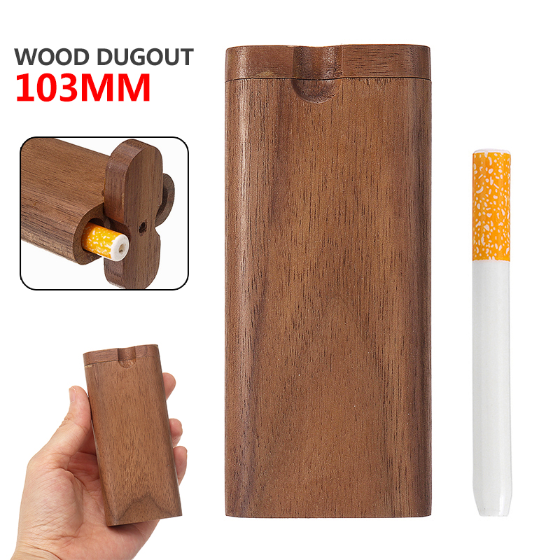 Holz Einbaum Box Ein Schlag 103mm Tragbare Umwelt Freundliche Material Rohr Zubehör