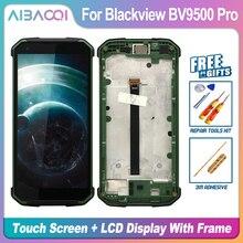 מקורי 5.7 אינץ מגע מסך + 2160X1080 LCD תצוגה + מסגרת עצרת החלפת Blackview BV9500/BV9500 Pro/BV9500 בתוספת