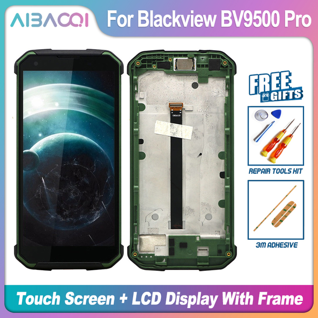 Originele 5.7 Inch Touch Screen + 2160X1080 Lcd scherm + Frame Assembly Vervanging Voor Blackview BV9500/BV9500 Pro/BV9500 Plus