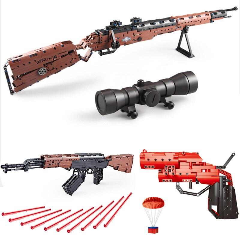 PUBG Playerunknown's Battlegrounds Compatible Legoed Ak47 Weapons Guns 98k Sets Model Building Blocks Kids Toys Bricks Technic