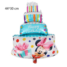 5pcs Free Shipping Mini Mickey Mouse Minnie Cake Aluminum Balloons Children Birthday Party Birthday Decorative Balloon Wholesale