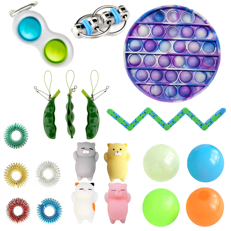 Fidget-Toys Anti-Stress-Toy-Set Mesh Marble Girl Stretchy Strings Relief-Gift Adults img2