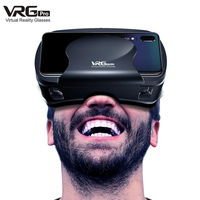 New Fashion VRG Pro 3D VR Glasses Virtual Reality Full Screen Visual Wide-Angle VR Glasses For 5 To 7 Inch Smartphone Devices