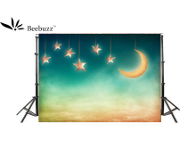 Beebuzz Photo Background Star And Moon Children Cartoon Photography Backdrops Backdrop