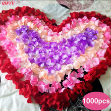 1000 шт./лот, искусственные лепестки, искусственные лепестки роз, Шелковый лепесток для украшения свадьбы, вечерние, вечерние, праздничные, сушеные лепестки роз, 5zSH