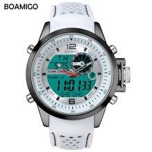 BOAMIGO Top Brand Men Outdoors Sports Watches Dual Digital Display Watc