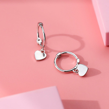 ear clip earrings S925 pure silver love circle contracted mini heart-shaped earring female brincos jewelry Christmas Gift new