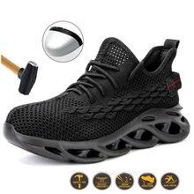 Sapatos de segurança de trabalho novos em aço para 2020, leve, respirável, à prova de quebra, resistente a puncturas e antiderrapante sh