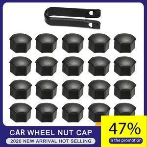 Image 1 - Roda porca tampa para tesla modelo 3 roda porca cobre lug tampa da roda lug porca capa kit extrator 21 pçs duas cores estilo do carro
