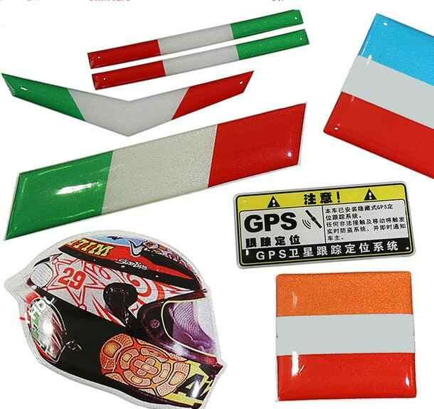 2 ピース車モーターヘルメットステッカーデカールカースタイリング反射ステッカーオースチンレースイタリア AR 排気