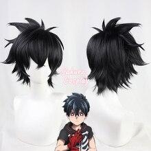 Takerlama Kemono Jihen Kabane КУСАКА Косплэй короткая обувь черного цвета в стиле синтетический термостойкий парик волос на Хэллоуин карнавальный вечер...