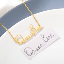 Custom Actual Handwriting Necklace Meaningful Personalized Signature Necklace Bridesmaid Jewelry Christmas Gifts