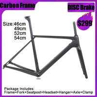 SENSA T800 700C BB68 Thread top quality new carbon road frame bicycle racing bike frameset 56/58/60/62mm large size Big height