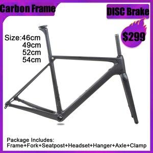 Image 1 - SENSA T800 700C BB68 스레드 최고 품질의 새로운 탄소 도로 프레임 자전거 경주 자전거 frameset 56/58/60/62mm 큰 크기 큰 높이