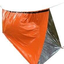 Camping Sleeping Bag Outdoor One Size PE film Lightweight Fishing Emergency Camping Hiking Trip Bag Moisture Pad Sun Protection carioca набор смываемых восковых карандашей baby 8 цветов