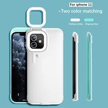 Funda de teléfono móvil con luz de relleno Led para Iphone 11, Funda protectora anticaída con anillo de luz para Selfie, envío gratis
