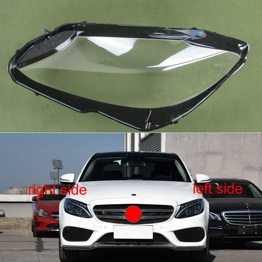 For 2015-2018 New Mercedes Benz W205 C180  C200  C260L  C280  C300  Lampshades Headlamps Transparent Lampshade Headlight Shell