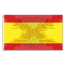 Bandera de españa com a sombra da cruz de borgoña com o brindis del soldado de los tercios do ejercito español