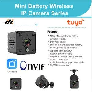 Мини-камера Tuya 1080P с Wi-Fi, мини-камера с питанием от аккумулятора, Onvif, видеокамера, Potrable Webcam, рекордер с Alexa Google Home