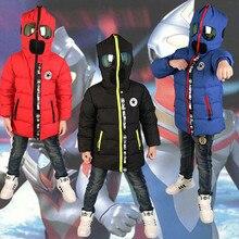 Новинка 2020 года; Детские пуховики и парки; От 3 до 10 лет зимняя детская верхняя одежда; Повседневная теплая куртка с капюшоном для мальчиков с очками; Теплые пальто для мальчиков