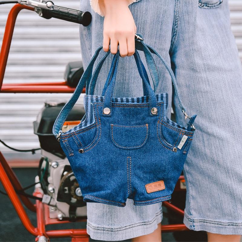 Jeans Handbag Tote Purse Shoulder-Bag Women Bags Big-Capacity Personality Denim Casual