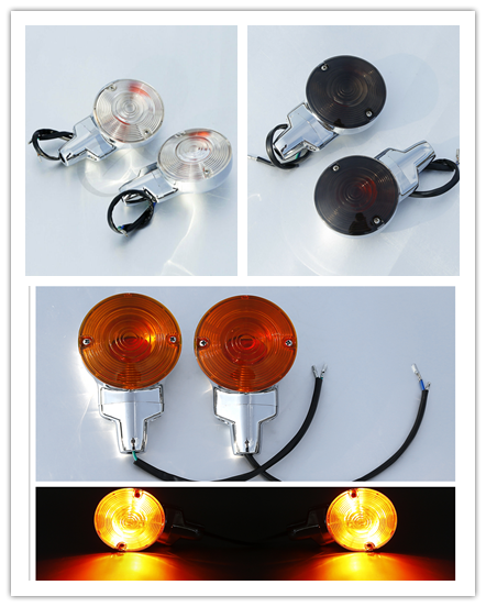 Motorcycle ABS Flat Turn Signal Lights For Harley Heritage Softail Classic FLSTC Touring Electra Glide 2001-2017