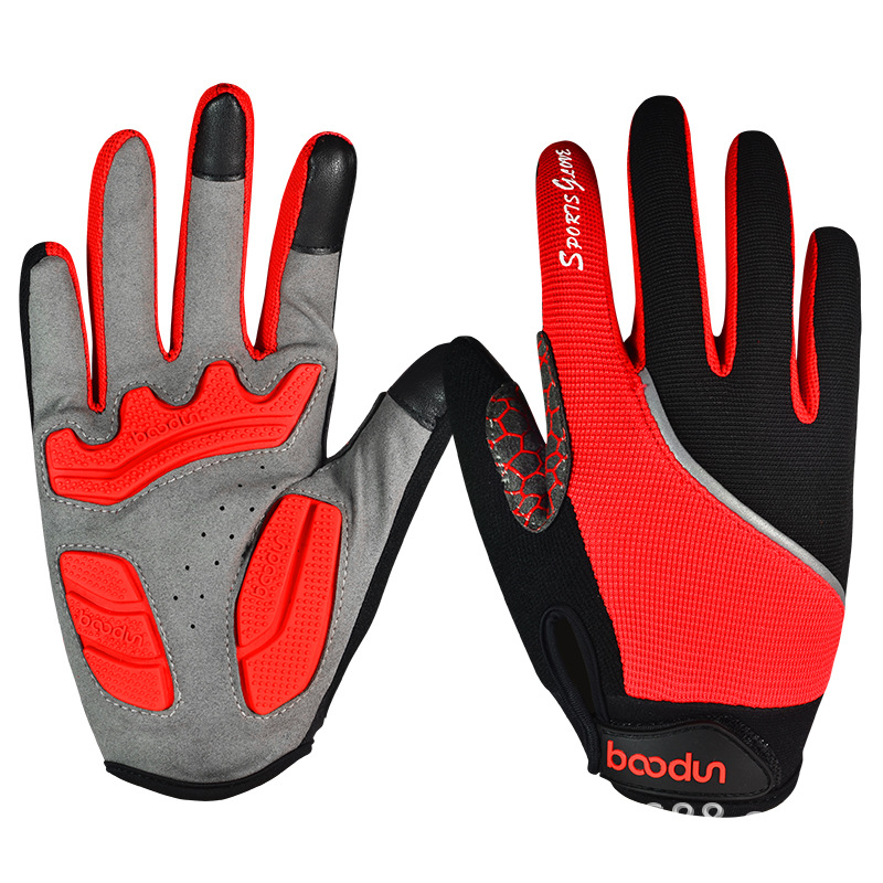 Spring Summer Cycling Gloves Shock Absorption Anti-slip Wearable Mountain Bike Three-Color Bicycle Gloves Equipment Manufacturer