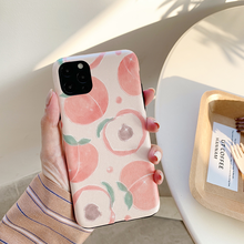 Pink peach Silk texture Cases for Huawei