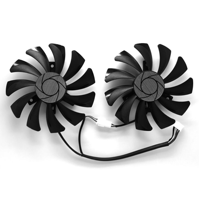 2Pcs/Set 85mm HA9010H12F-Z DC 12V 0.57A 4Pin Cooler <font><b>Fan</b></font> Replacement For MSI <font><b>GTX</b></font> 1060 OC 6G <font><b>GTX</b></font> <font><b>960</b></font> Graphics Card Cooling <font><b>Fan</b></font> C26 image