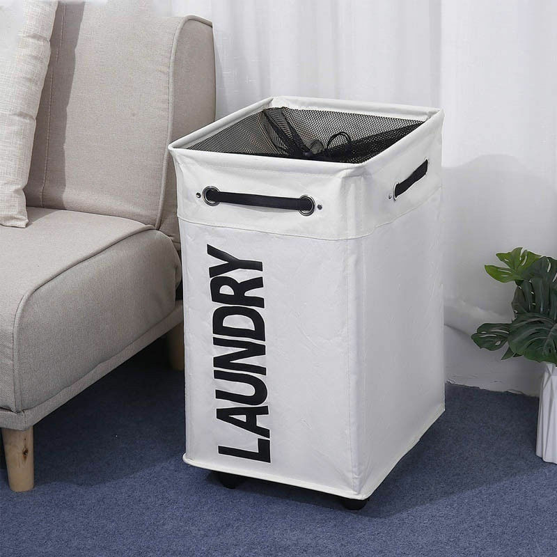 Корзина для хранения грязной одежды, три сетки, органайзер, Складная Большая корзина для белья, водонепроницаемая домашняя корзина для бель...