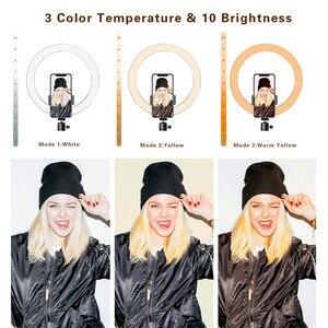 """Image 4 - LED Ring Light 12.6 """"supporto per treppiede supporto per telefono per Streaming Live YouTube dimmerabile trucco fotografia RingLight 3 modalità di illuminazione"""