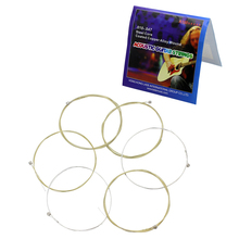 6PCS Acoustic Guitar Strings Set Stainless Steel Core Coated Copper Alloy Wound 1st-6th (.010-.047) Acoustic Guitar Strings martin m170 80 20 bronze round wound extra light acoustic guitar strings 010 047