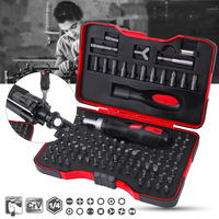 101Pcs/set Multi function Combination ML RS1 Ratchet Screwdriver 6.35mm Screw Driver Set for Household DIY Driver Tool