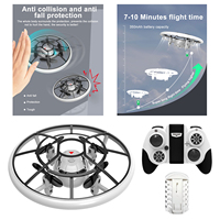 OVNI-Dron eléctrico con Control remoto, cuadricóptero con Control de una tecla, modo sin cabeza, luz LED con tapa 3D, 3 modos de velocidad, helicóptero, juguetes de avión