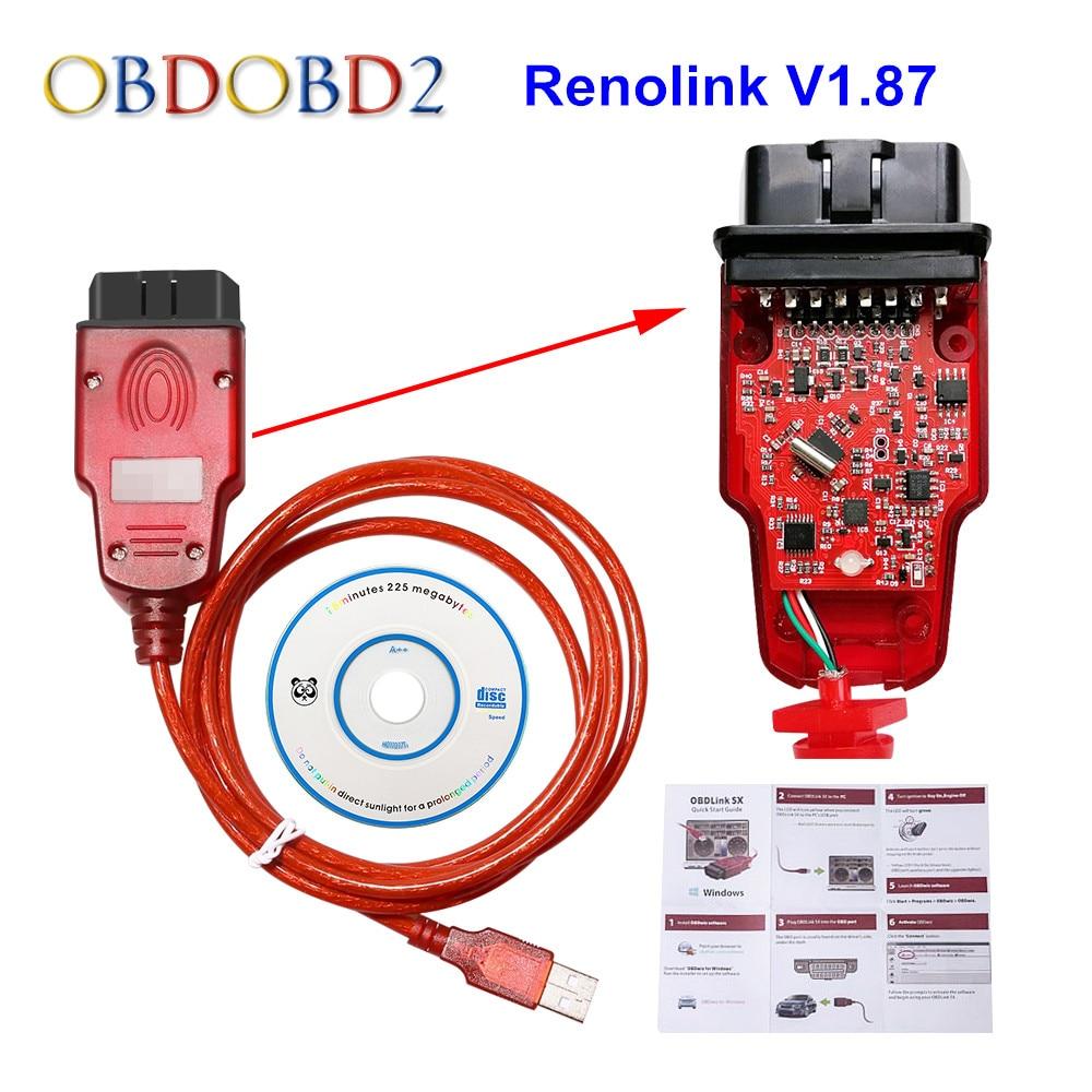 Newest Renolink V1.87 Renolink For Renault ECU Programmer Key Coding UCH Matching Dashboard Coding ECU Resetting
