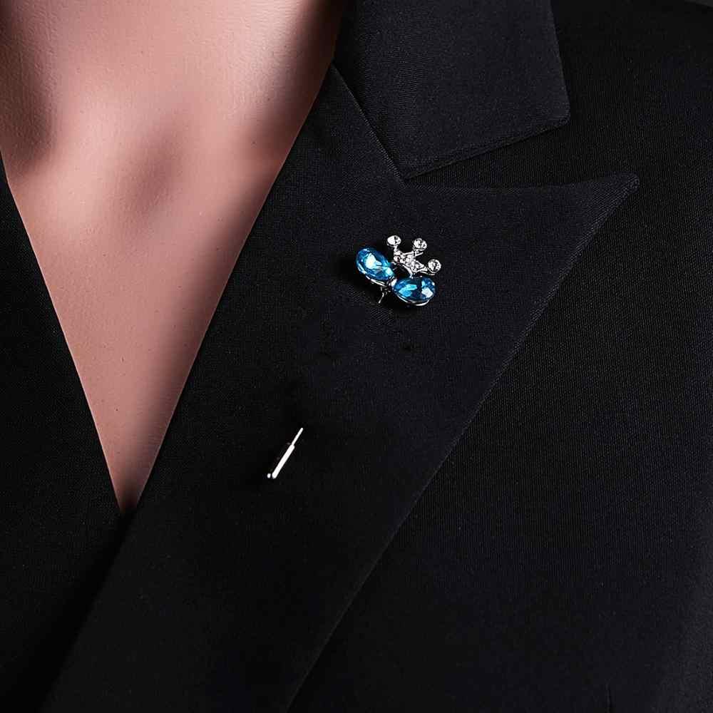RINHOO 긴 바늘 브로치 핀 라인 석 꽃 스타 잎 버클 핀 브로치 여성을위한 목도리 카디건 셔츠 칼라 액세서리