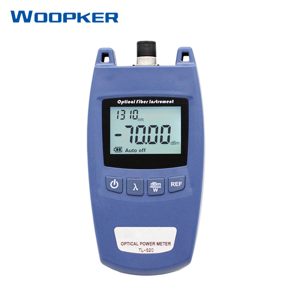 Handheld Mini FTTH Fiber Optic Power Meter TL-520 With SC/FC Universal Connector Optical Cable Tester