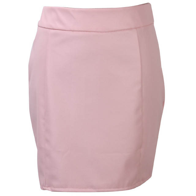 Fashion Women Leather Skirt Female Solid Bodycon Slim Pencil Short Mini Skirt Ladies Zipper High Waist Skirt Tight Clubwear 5